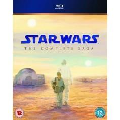 Star Wars - The Complete Saga (9-disc Blu-ray) (Import - Svensk text)