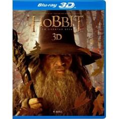 Hobbit - En oväntad resa (Blu-ray 3D + Blu-ray) (4-disc)