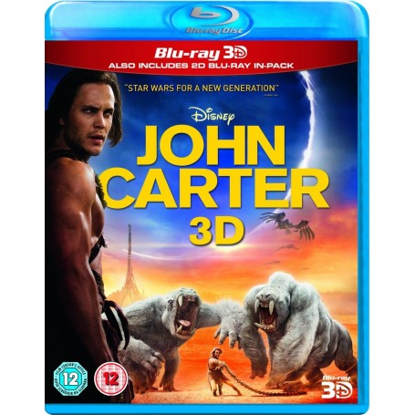 John Carter (2012) (Real 3D + Blu-ray) (Import sv.text)