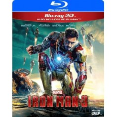 Iron Man 3 (Real 3D + Blu-ray)
