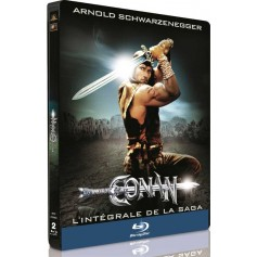 Conan the Barbarian and Conan the Destroyer (Steelbook) (Blu-ray) (Import Sv.text)