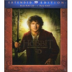 Hobbit - En oväntad resa - Extended Edition (Blu-ray 3D) (Import sv.text)