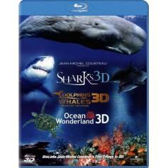 Jean-Michel Cousteau's Film Trilogy (Blu-ray 3D) (Import sv.text)