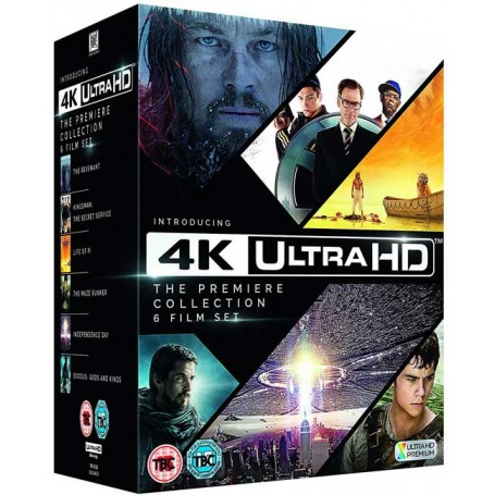 The Premiere UHD 6 Film Collection (The Revenant, Kingsman, Life of Pi, The Maze Runner, Independence Day, Exodus) (Import)